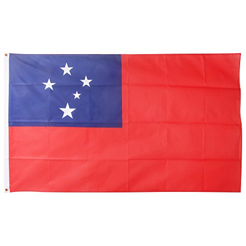 (Western Samoa National Flag (5ft X 3ft) (5ft x 3ft) (Red/Blue))