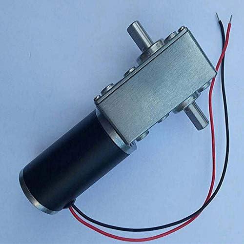 Fanuse Motor de Engranaje Helicoidal de Doble Eje de 12 V CC Motor de Alto Par Motor Reductor de Engranaje Helicoidal MiniVelocidad Del Micromotor Avance y Retroceso 80 RPM