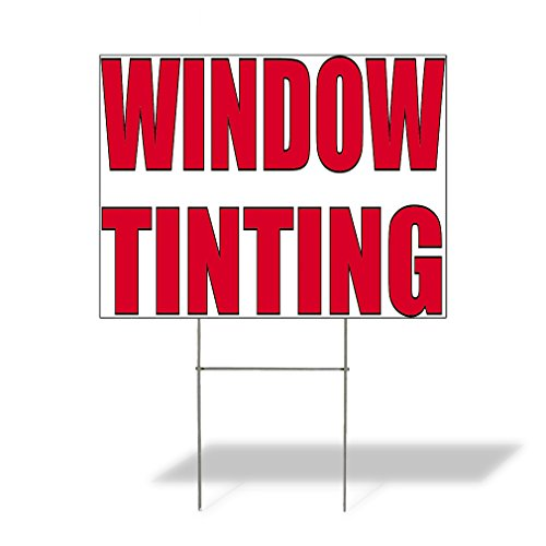 Plastic Weatherproof Yard Sign Window Tinting #2 Auto Detailing Red Tint for Sale Sign Multiple Quantities Available 18inx12in One Side Print One Sign ()