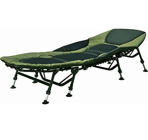 Grauvell Vorteks Karpfenliege 8 Bein Liege Angelliege Bedchair Campingliege