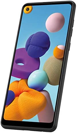 """Samsung Galaxy A21 Factory Unlocked Android Cell Phone, US Version Smartphone, 32GB Storage, Long-Lasting Battery, 6.5"""" Infinity Display, Quad Camera, Black"""