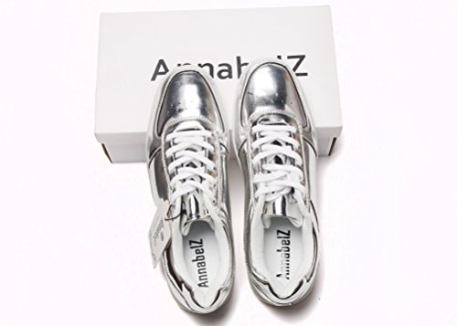 Scarpe Led Annabelz Ricarica Usb Light Up Glow Shoes Uomo Donna Moda Sneakers Lampeggiante Scarpe Sportive Luminose Argento