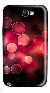 Samsung Note 2 Case Super Circle Background 3D Custom Samsung Note 2 Case Cover