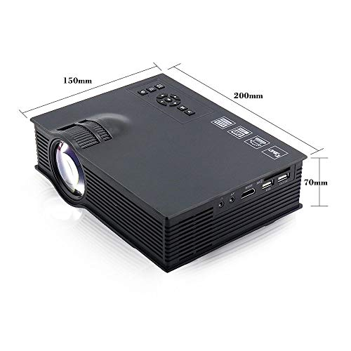 Proyector portátil LED UC40, 1200 lúmenes Mini Home Theater ...