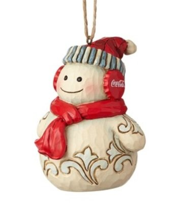 Department56 Enesco 3.15 Inches Height x 2.64 Inches Width x 2.87 Inches Length Snowman Decorative Hanging Ornament x x, Cream (Snowman Hanging Ornament)
