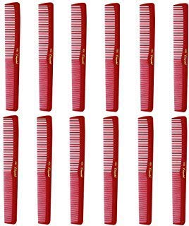 """Barber Beauty Hair Cleopatra 400 7"""" All Purpose Comb (12 Pack) 12 x SB-C400-RED"""