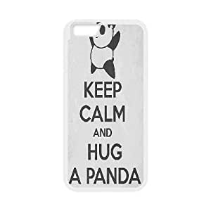 Panda Case Cover For SamSung Galaxy S3 Keep Calm Quote Hug Panda, Protector Cute Panda, {White}