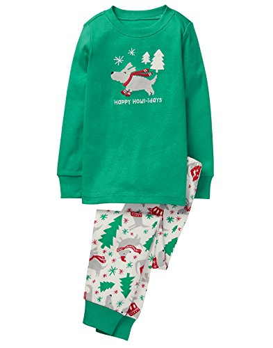 Gymboree Toddler Boys' 2 Piece Cotton Tight-Fit Pajamas, Dog, 18-24 Mo