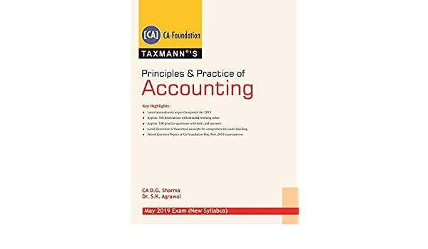 Principles & Practice of Accounting (CA-Foundation)(May 2019 Exam ...