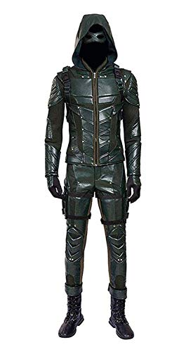 O-O Cosplay Mens PU Leather Battle Suit