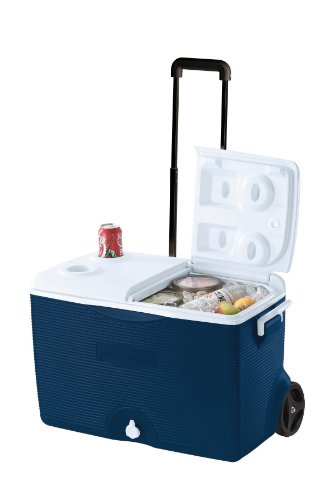 Rubbermaid Ice Chest/Cooler, Blue, 60-quart Wheeled (FG2A9002MODBL)