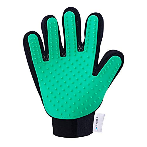 Perfect for Dogs/Cats with Long and Short Fur, to Brush and Gently Massage Your pet. Multi-Functional 5 Finger Glove.