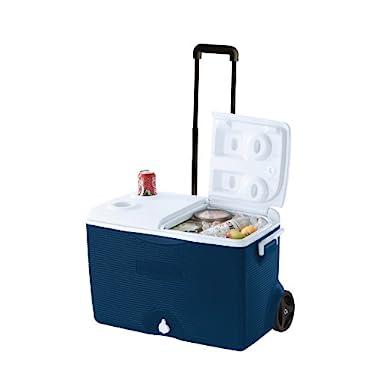 Rubbermaid Ice Chest / Cooler, Blue, 60-quart Wheeled (FG2A9002MODBL)