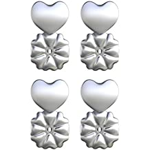 Magic Bax Earring Lifters - 2 Pairs of Adjustable Hypoallergenic Earring Lifts (2 Pairs of Sterling Silver Plated Earring Backs) As Seen on TV
