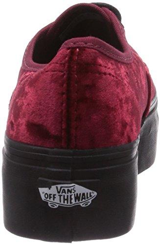 08de23e43ca Vans U Authentic Platform (Velvet) Red Bl