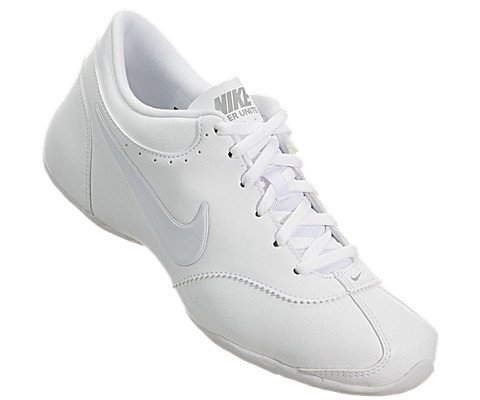 NIKE New Women's Cheer Unite Sneakers White/Silver/White 5.0