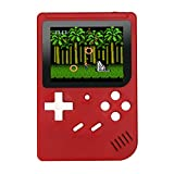 Handheld Console Built-in 300 Games, 3 Inch LCD Retro Gaming Player USB Charging for Children - Red