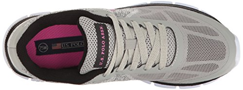 Us Polo Assn. (femme) Womens Lucy-c Oxford Gris / Noir / Rose