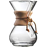 classic Glass Espresso Coffee Maker Chemex Style Pour Over Coffeemaker Coffee Machine with Filter Pot 400ml