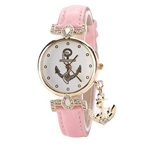 Waist Watch 2019 Women Girls Anchor Pendant Quartz Wrist Watch Luxury Gift Relogio Feminino Rhinestone Watches Montre Femme Lady Watch Saat