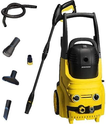 Syntrox Germany - Limpiador de alta presión 2 en 1 con aspirador en seco y húmedo extraíble, limpiador de terrazas, limpiador de superficies: Amazon.es: Hogar