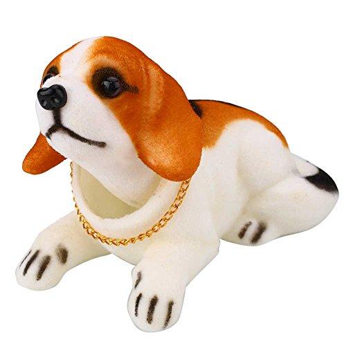 Sedeta Beagle Bobbing Nodding Nodder Moving Bobble Head Dog Car Home Interior Decor Doll Toy Lovely Soft Plush Bobbing N