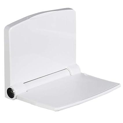 Taburete plegable de pared de baño Baño Asiento Plegable ...
