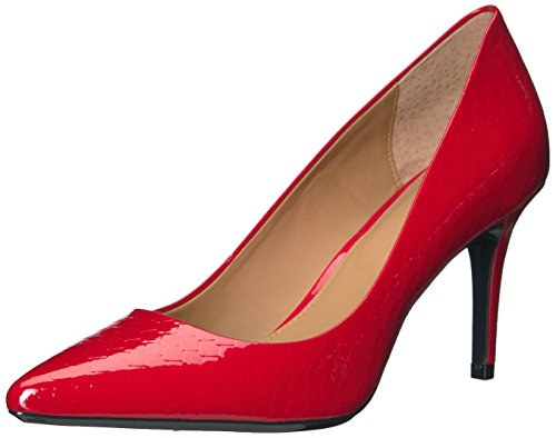 Calvin Klein Women's Gayle Dress Pump, Lipstick Red Python Print, 9 M US ()