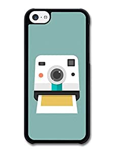 MMZ DIY PHONE CASERetro Instant Print Camera Design on Cool Minimalist Green Hipster case for iphone 5c