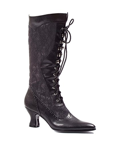 Ellie Shoes 253 Rebecca Womens Vintage Victorian Gothic Granny Lace up Boots Black