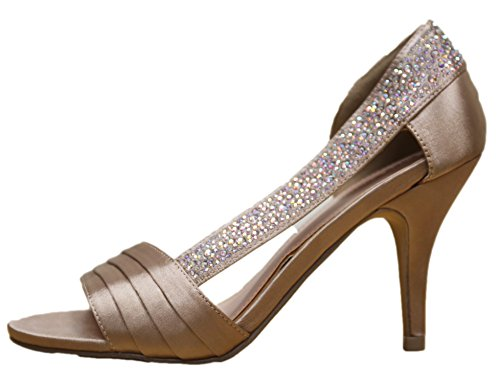 Lady Couture Strass Pointu Robe Élégante De Stiletto Sandale Champagne