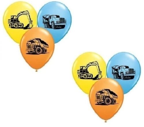 LoonBalloon Tonka Dump Truck Construction (6) Birthday Party Latex Decoration Balloons -