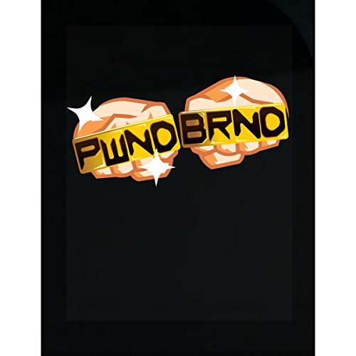 Pwnd Brand Brass Knuckle Video Game Logo - (Brass White T-shirt)