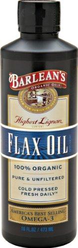 Barlean Bio Huiles Haute Lignan Flax Oil, 16-Ounce Bottle