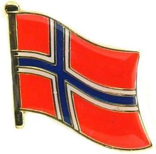 Bandera Noruega pins eysee Pin bandera de la bandera: Amazon.es ...