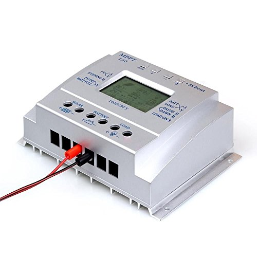 Y&H 60A Solar Battery Charge Controller 12V 24V Auto with LCD Display USB 5V 1500mA Solar Regulator High Efficiency Solar Tracking System