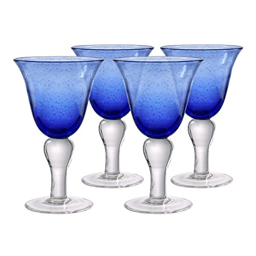 Artland Iris Wine Glasses, Cobalt Blue
