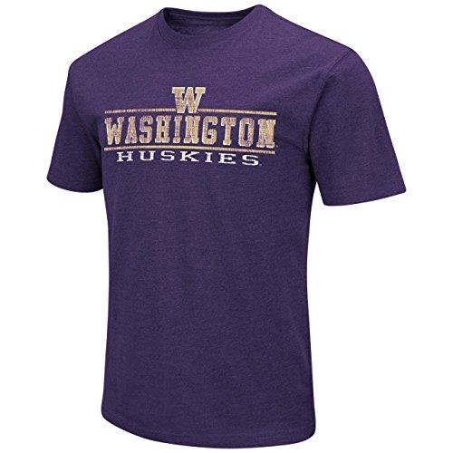 Colosseum Washington Huskies Adult Soft Vintage Tailgate T-Shirt - Purple, Medium