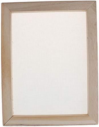 SM SunniMix 手すき枠 紙すき木枠 製紙フレーム 紙工芸品 ツール スクリーン アクリル 絵の具 全7サイズ - 30
