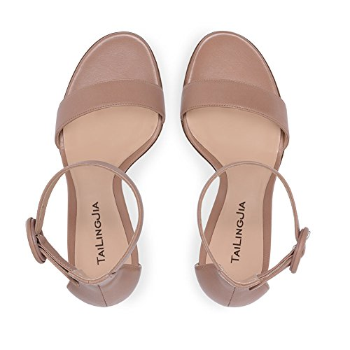 Sling Hollow Strap Shoes Open Spring Chunky Out Toe Sandals for Microfiber Basic 2018 New Dress Pump PU Heel Back Ankle B Summer Women's 0qUwx7U