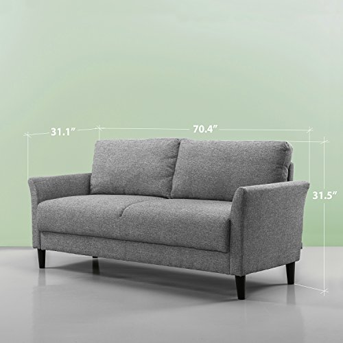 Review Zinus Classic Upholstered 71in