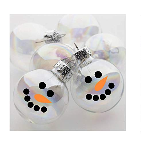 Moira Snowman Ornament Decal 10 Snowman Face Stickers Wine Glass Decals Holiday Decals Holiday Ornament Exchange Ornament Kit DIY Ornament