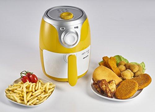 Ariete 4615 Airy Fryer Mini, Friggitrice ad aria senza olio, 1000 W, Capacità 2 Litri, Facile da pulire, Giallo 7
