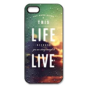 iphone 5 Case/iphone 5s Covers Hard Back Protective-Unique Design Life Quotes Case Perfect as Christmas gift(1)