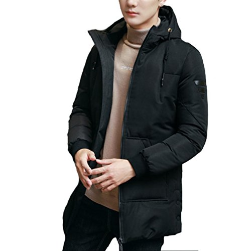 The New Down jacket Men Leisure Thicker coat , black , M by YANXH outdoors