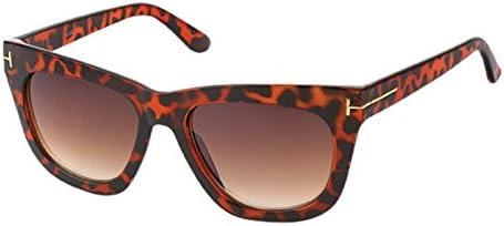 Sonnenbrille Cat Eye 400 UV dünne Verzierung Metall getönt getigert schwarz