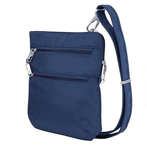 Travelon Anti-Theft Classic Slim Dbl Zip Crossbody Bag, Midnight by Travelon (Image #10)
