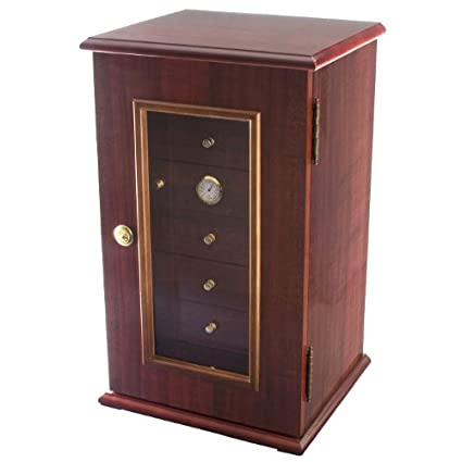 The Golden Cigar Humidor 120 Capacity Exotic High Piano Gloss Birdseye Maple