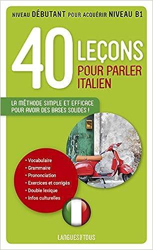 Amazon Fr 40 Lecons Pour Parler Italien Paolo Cifarelli