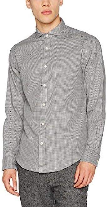 Springfield Pata De Gallo, Camisa casual para Hombre, Gris ...